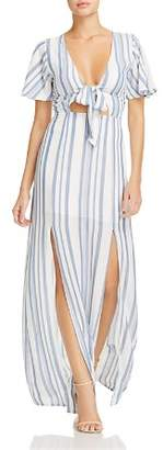 DAY Birger et Mikkelsen Lost and Wander Lost + Wander Marina Striped Tie-Front Dress