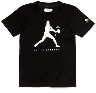 Lacoste Boys' SPORT Technical T-Shirt - Novak Djokovic Supporter Collection