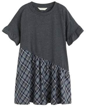 MANGO Contrast-bodice dress