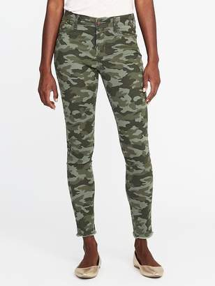 Old Navy Mid-Rise Raw-Edge Camo-Print Rockstar Jeans for Women