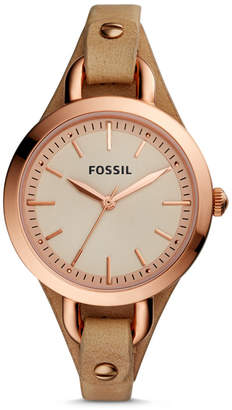 Fossil Classic Minute Three-Hand Tan Leather Watch