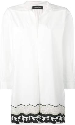 Rossella Jardini long tassel print shirt