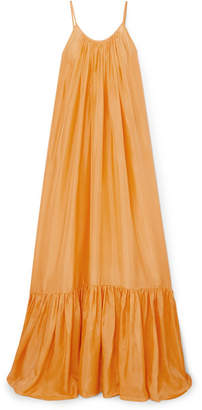BRIGITTE Kalita Silk-habotai Dress - Pastel orange