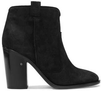 Laurence Dacade - Pete Suede Ankle Boots - Black $840 thestylecure.com
