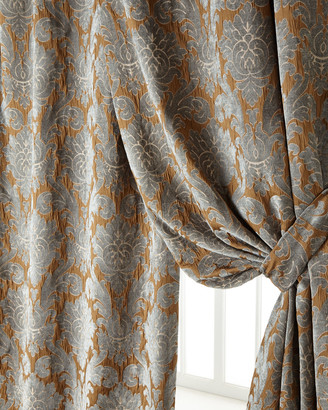 "Legacy Two 50""W x 96""L Bella Damask Curtains"