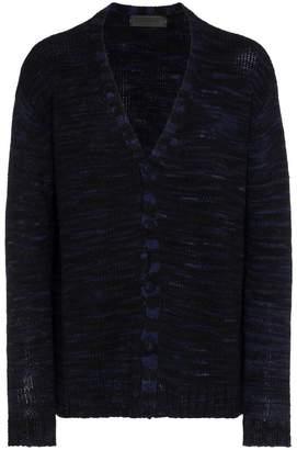 The Elder Statesman navy black cashmere cardigan