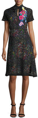 Etro Lace Over Multi-Print Dress