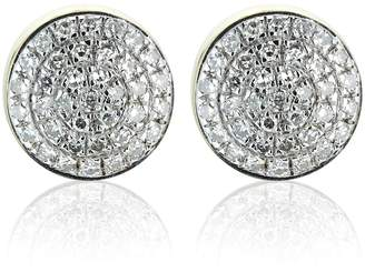 Monica Vinader Gold Fiji Button Diamond Stud Earrings