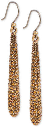 Lucky Brand Gold-Tone Pave Spike Drop Earrings