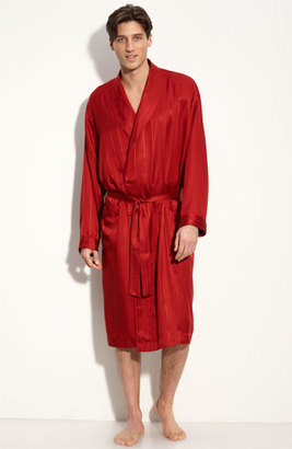 Men's Majestic International Herringbone Stripe Silk Robe $195 thestylecure.com
