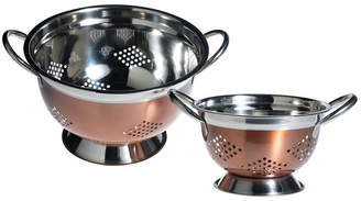 BASIC ESSENTIALS Basic Essentials Basic Essential Stainless Steel Colors 2-pack Colander