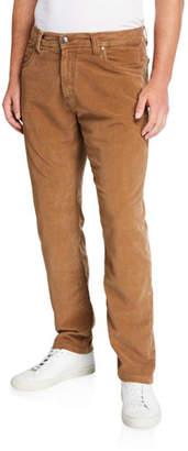 Neiman Marcus Men's Garment-Dyed Moleskin Pants, Brown