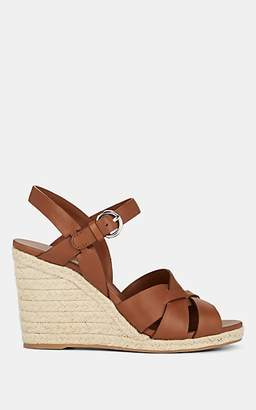 Prada Women's Woven Leather Platform Espadrilles - Brandy