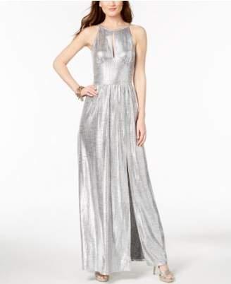 Michael Kors MICHAEL Metallic Maxi Dress,Created for Macy's