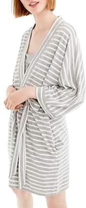 J.Crew Stripe Stretch Cotton Robe