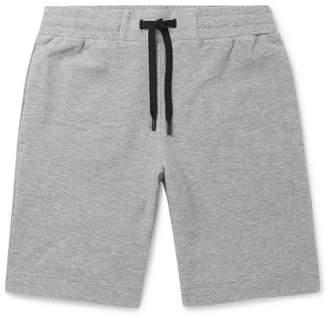 Theory Relax Mélange Terry Drawstring Shorts - Gray