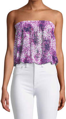 Ramy Brook Yanni Printed Strapless Blouson Top