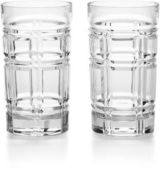 Ralph Lauren Greenwich Set of 2 Lead Crystal Highball Glasses