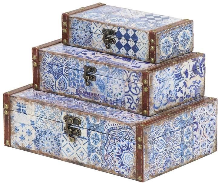 UMA Lattice Suitcase Boxes (Set of 3)