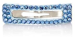 River & Rosy Rhinestone-Embellished Rectangular Hair Clip-Blue