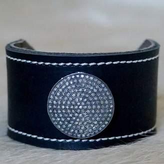"Designs By Alina 1.5"" Pave Diamond Cuff"