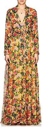 Saloni Women's Alexia Floral Silk Maxi Dress