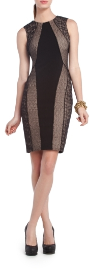 Jazelle Blocked Lace Cocktail Dress