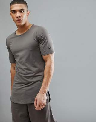 Nike Training Utility Fitted T-Shirt In Brown AA1591-202