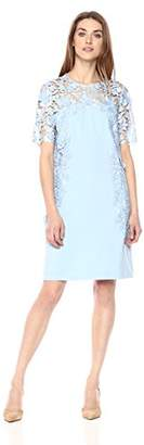 Tahari by Arthur S. Levine Women's Three Quarter Sleeve Shift Dress