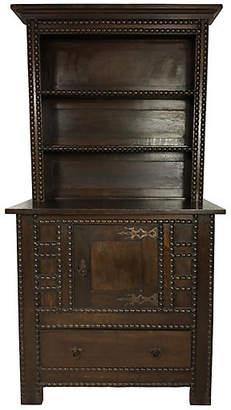 One Kings Lane Vintage 19th-C. English Oak Spool Carved Cabinet - Von Meyer Ltd.