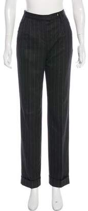 Dolce & Gabbana Striped High-Rise Pants