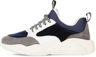 800852b17b Moschino 30mm Velvet & Suede Sneakers