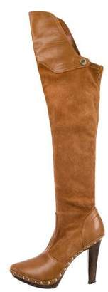 Sergio Rossi Suede Over-The-Knee Boots
