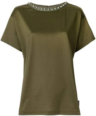 Moncler embellished collar T-shirt
