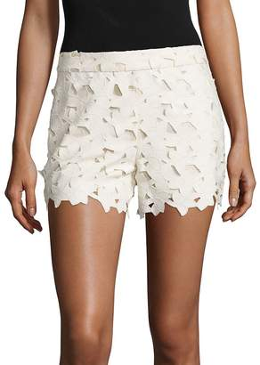 Alice + Olivia Women's Amaris Faux Leather & Lace Shorts