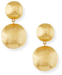 Marco Bicego Africa 18K Gold Two-Drop Earrings