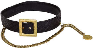 One Kings Lane Vintage Chanel Quilted Belt with Chain Drop