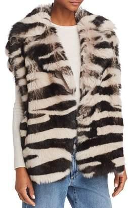 Iro . Jeans IRO.JEANS Zarl Zebra-Print Shearling Vest