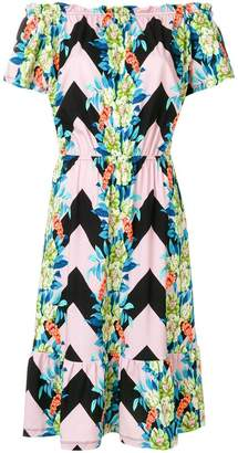 Etro off-the-shoulder floral dress