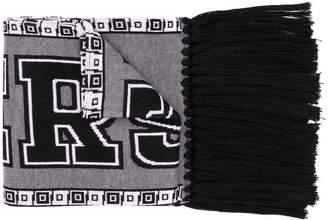 Versace branded fringe scarf