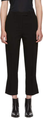 3.1 Phillip Lim Black Cropped Kick Flare Trousers