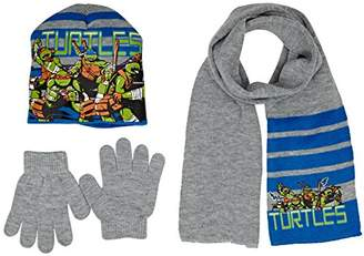 Nickelodeon Boy's Ninja Turtles Fight Hat/Gloves/Scarf,(Manufacturer Size:52)