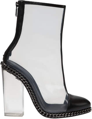 Balmain Transparent Cap Toe Booties