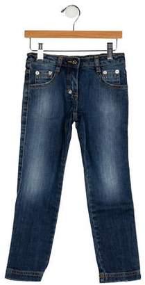 Dolce & Gabbana Girls' Five Pockets Straight-Leg Jeans