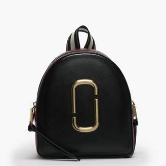 Marc Jacobs Pack Shot Black & Red Leather Backpack