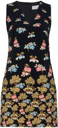 Peter Pilotto sleeveless V-neck stamp print dress