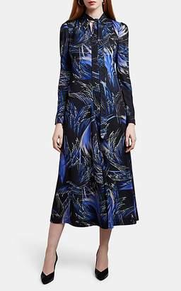 Givenchy Women's Wave-Print Jersey Midi-Dress - Black