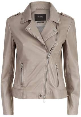 SET Leather Biker Jacket