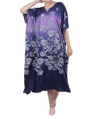 aec3d2bede Miss Lavish London Kaftan Tunic Plus Size Beach Cover Up Maxi Dress  Sleepwear Embellished Kimonos