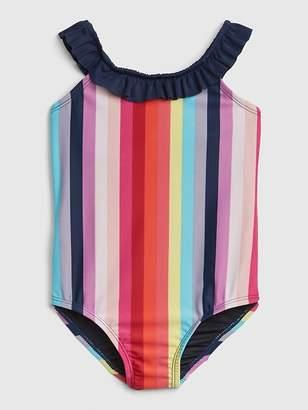 Gap Ruffle Stripe Swim One-Piece